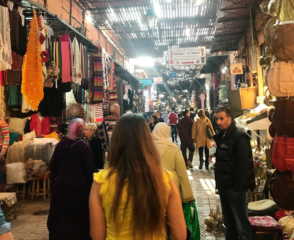Handcraft Market or Souk in Fez, Morocco