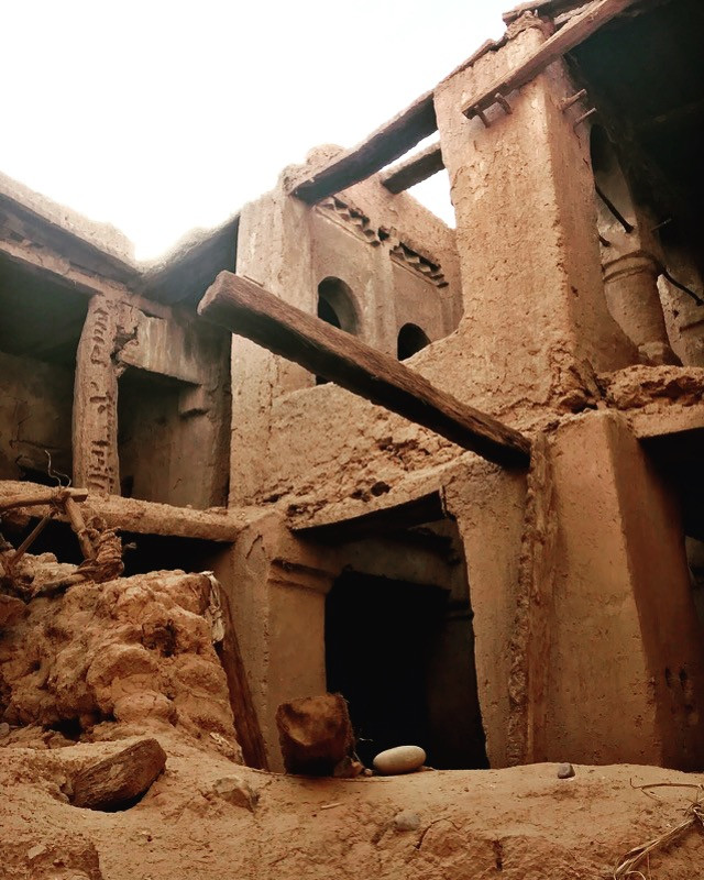ruins of kasbah in Tagounite, Morocco