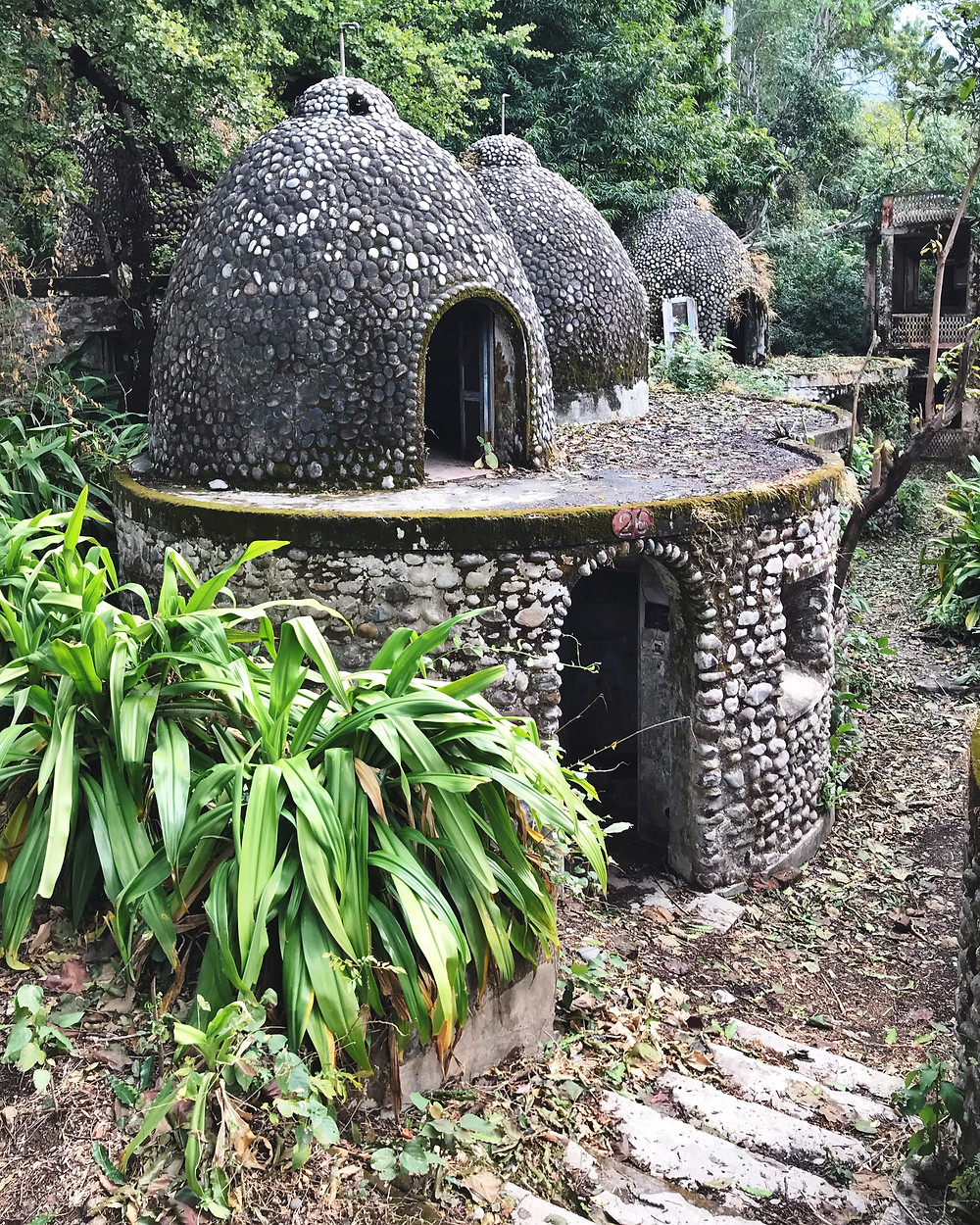 Beatles Ashram egg-shaped meditation cave.