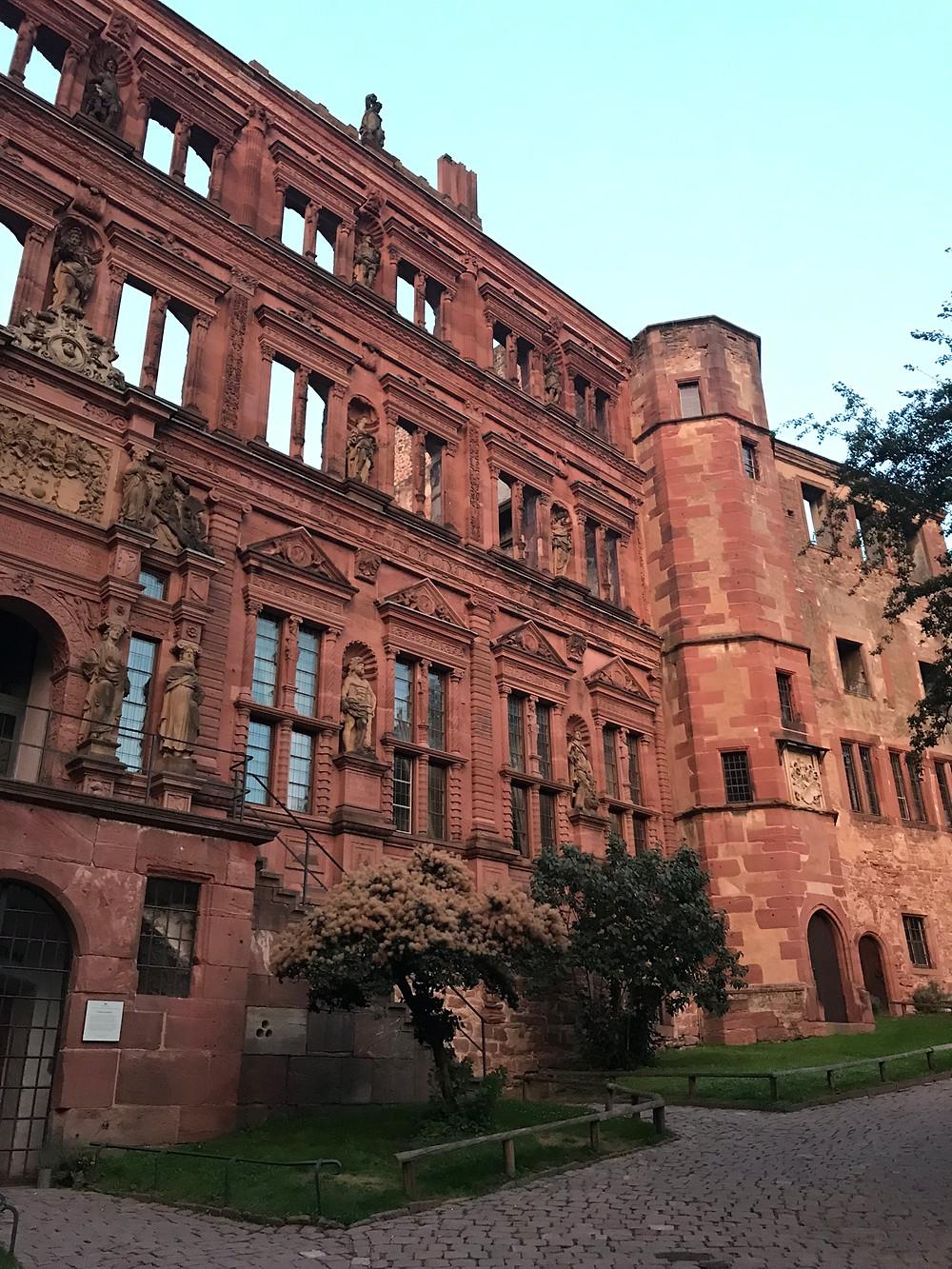 Ruins of Heidelberg Castle in Germany.