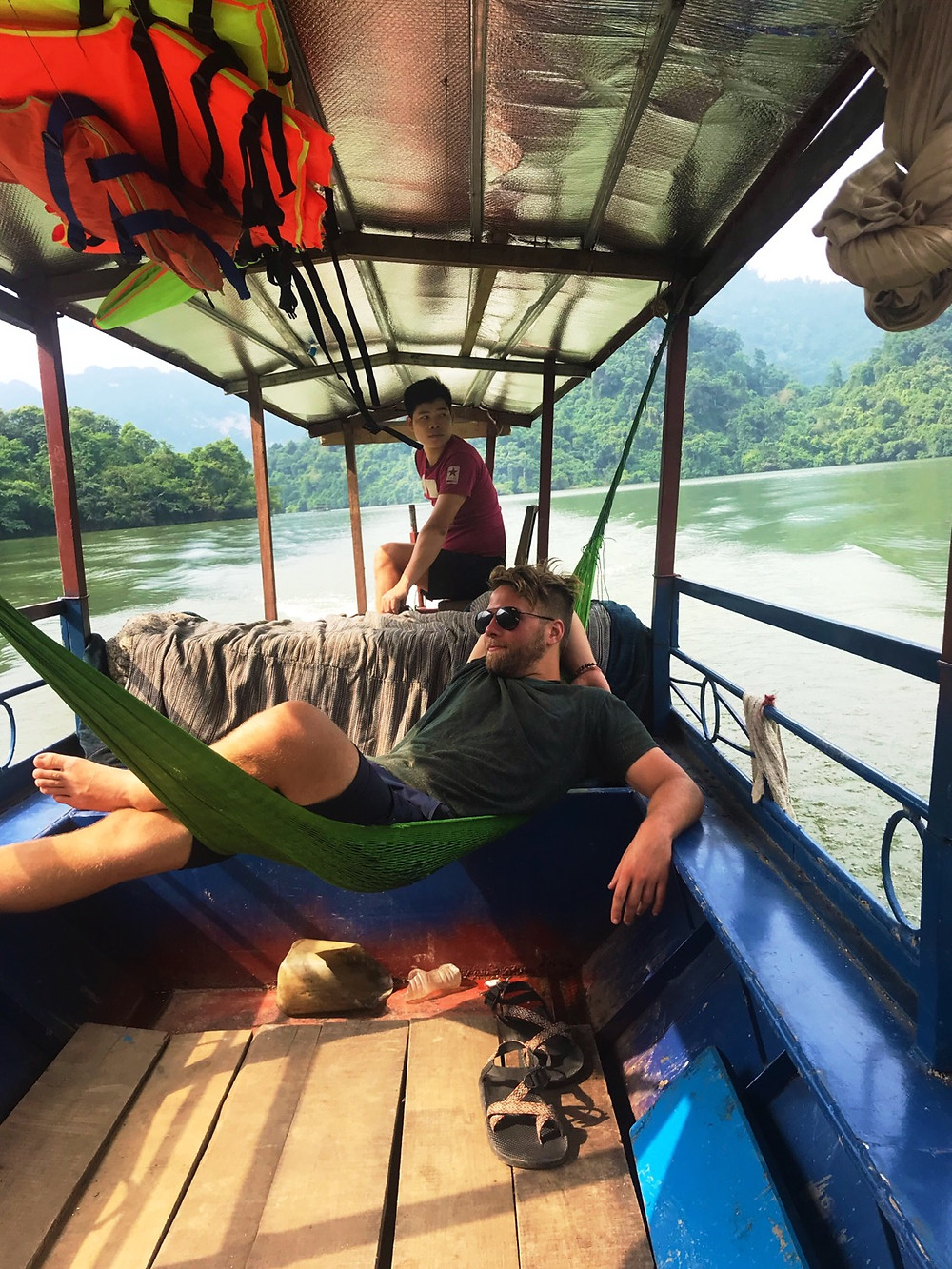 Boat ride around Lake Ba Be on the Ha Giang Loop, Northern Vietnam
