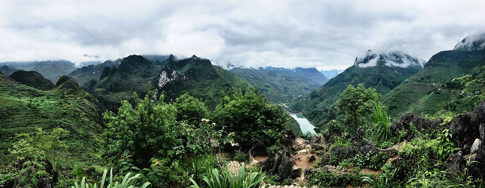 Misty mountains on the Ha Giang Loop, Northern Vietnam