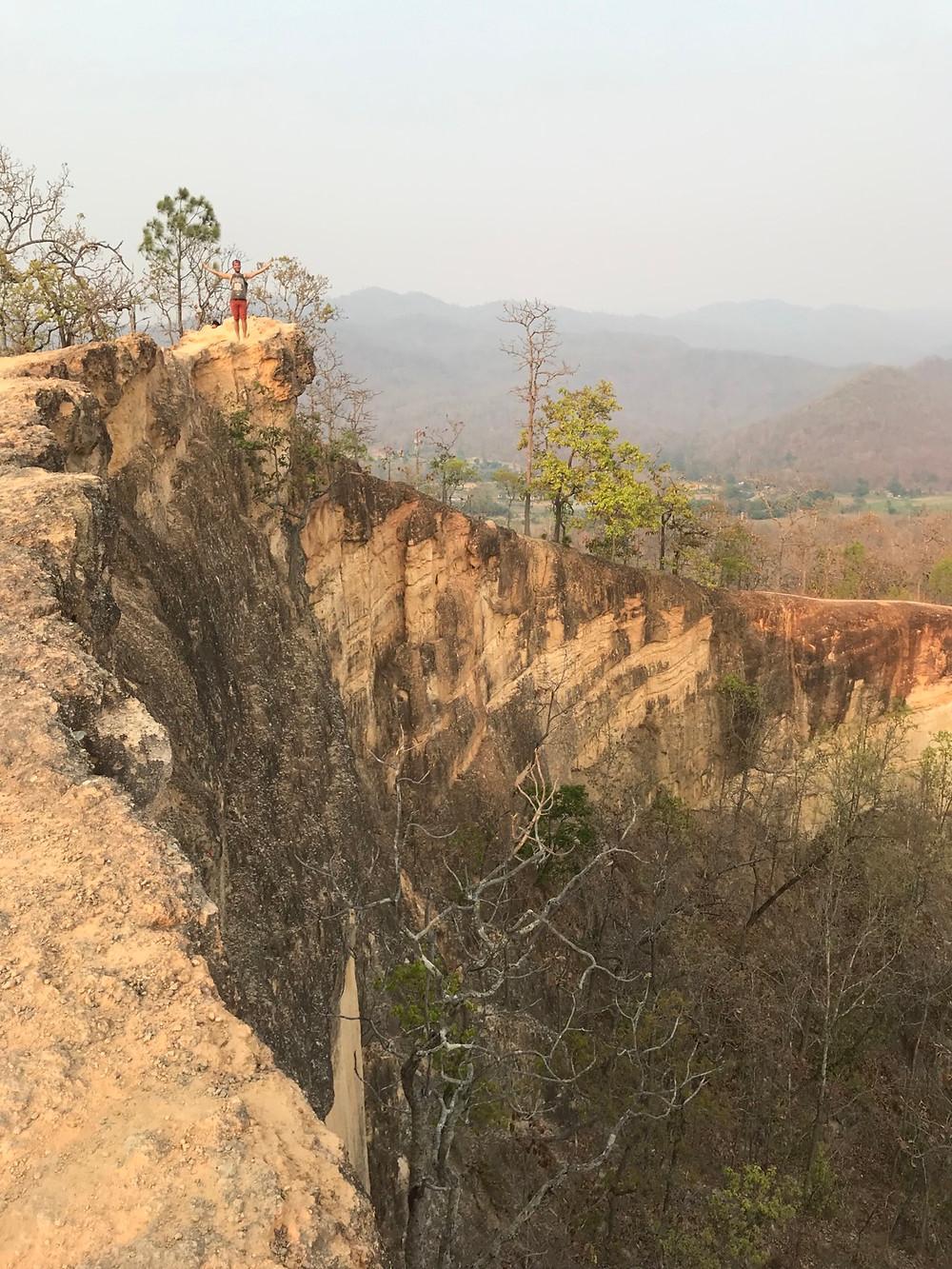 Pai canyon. hiking, Thailand