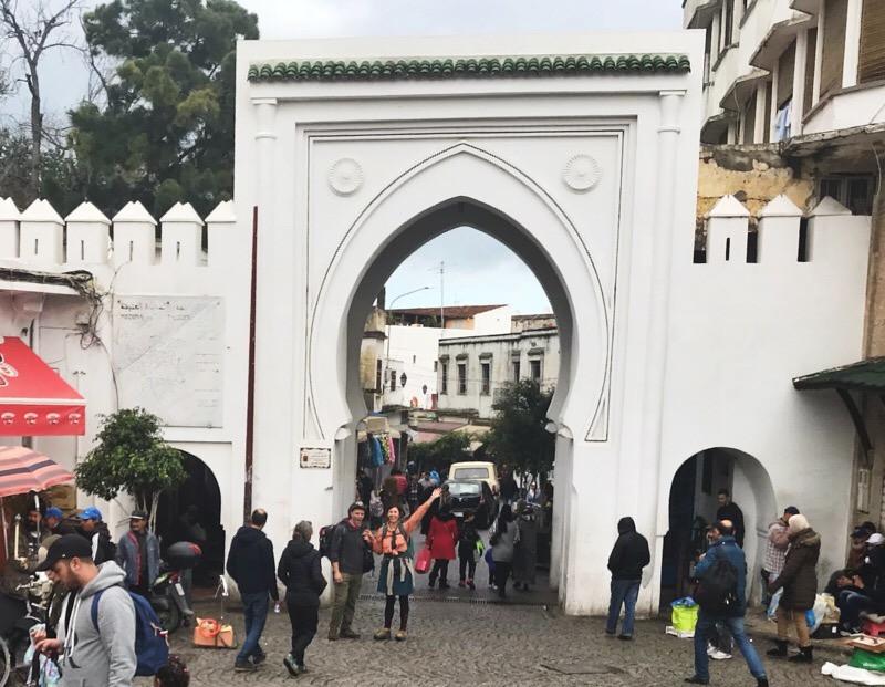 Gate to the Medina Tangier Morocco