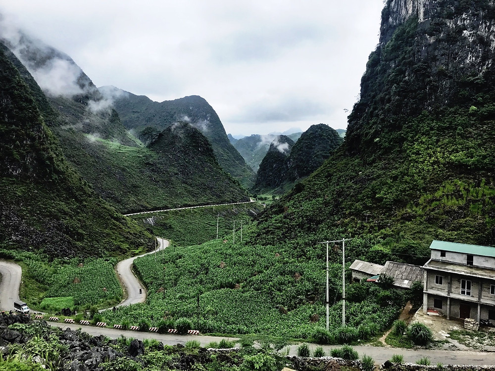Mist and mountains on the Ha Giang Loop