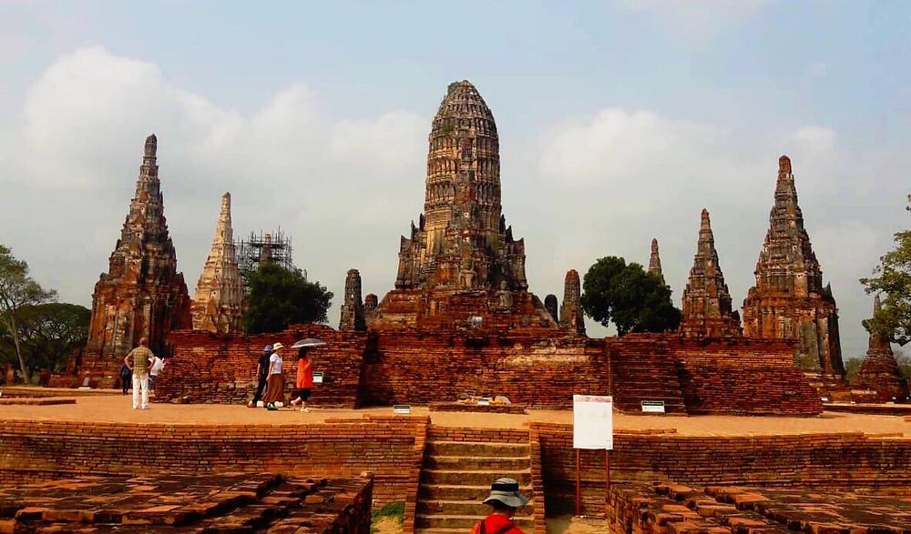 temples, Ayutthaya, thailand