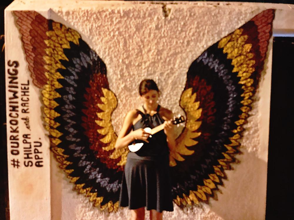 Wings street art Kochi India