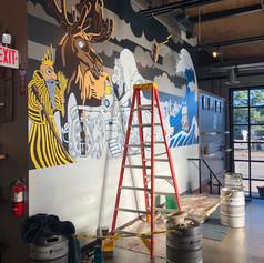Insight Mural, In-Process Shot