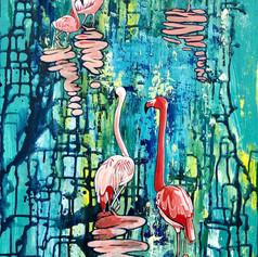 Flamingos Hanging Out 3