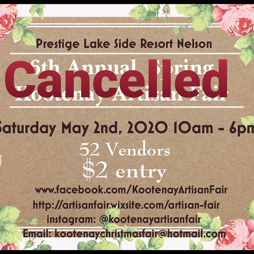 Kootenay Artisan Spring Fair  - THIS EVENT HAS BEEN CANCELLED