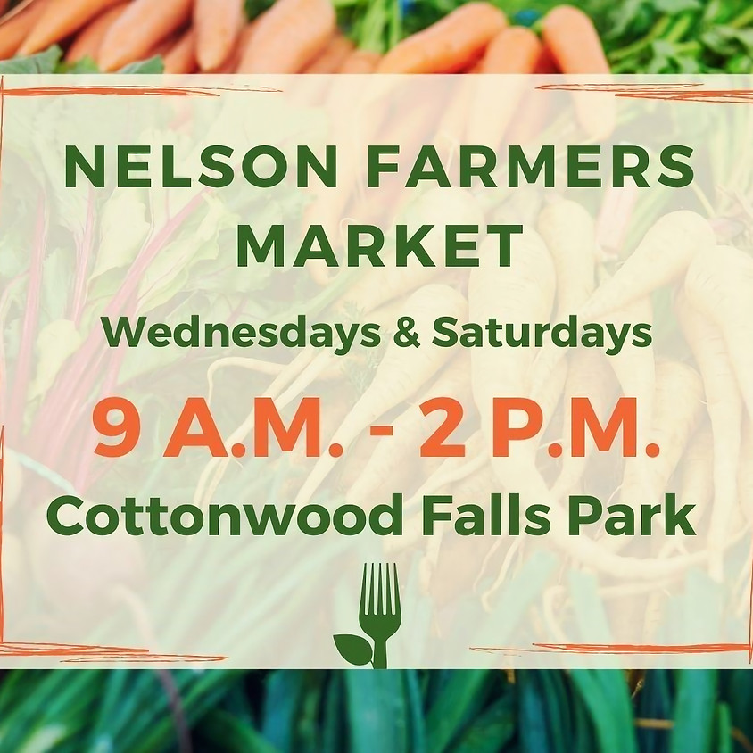 Nelson Farmers Market-Effective August 22 Artisan Vendors will be back at the market. My last day there is Sept 26