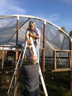 Building Hoop House