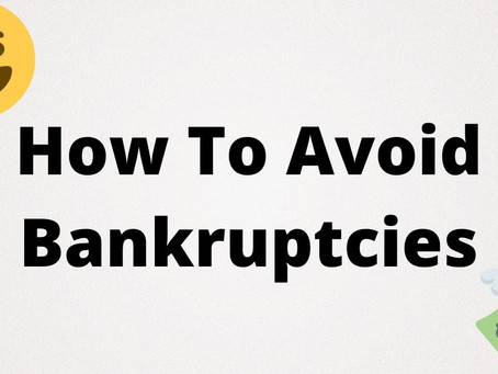 3 Simple Ways To Avoid Bankruptcy