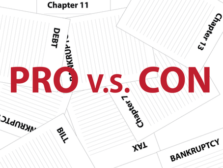 Weigh The Pros And Cons Before Declaring Bankruptcy