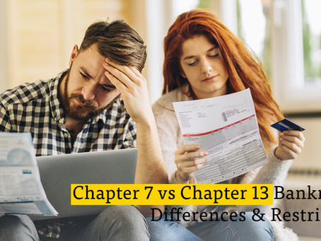 Should You File Chapter 7 or Chapter 13 bankruptcy?