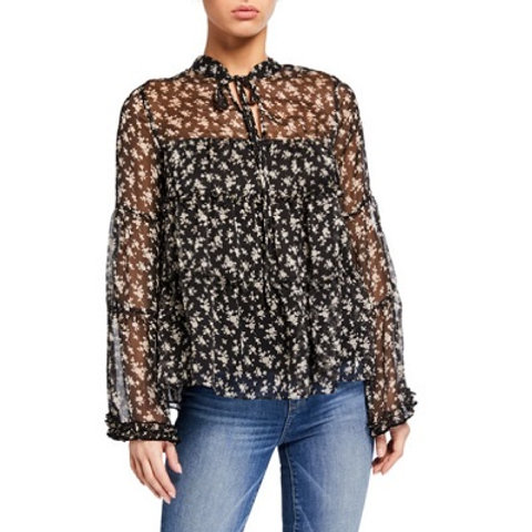 English Factory Tiered Floral Top