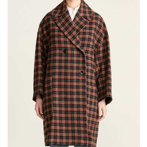 Hache Checked Patch Pocket Coat