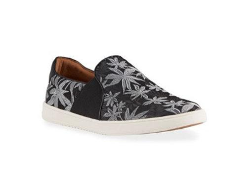 Robert Wayne Adriano Metallic Floral Slip-On Sneakers