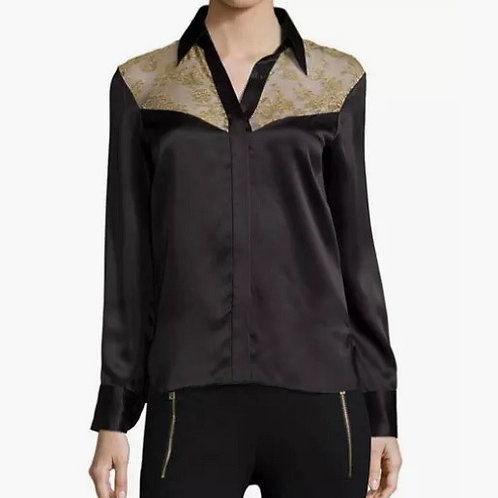 Rag & Bone Angela Floral Panel Silk Shirt