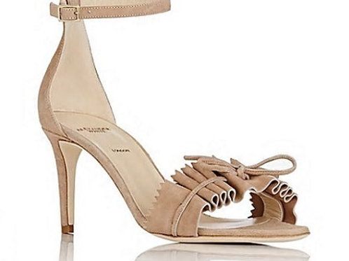 Alexander White Eva Suede Ankle-Strap Sandals