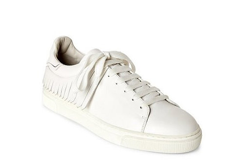 Louis Leeman Kiltie Fringe Leather Low-Top Sneakers