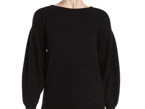 Vertical Design Cashmere Pleated Volume Sleeve Sweate
