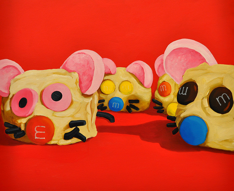 Red Hopping Mouse Party Cakes