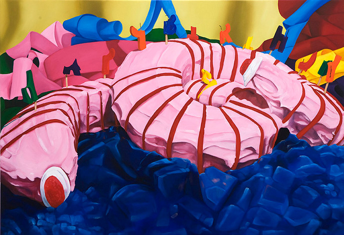 Lake Pedder Earthworm Bundt cake