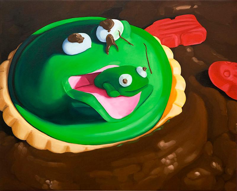 Gastric-Brooding Frog cupcake