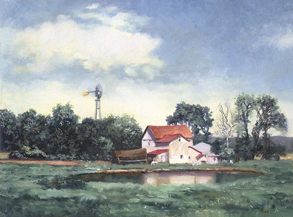 Farmhouse on the Pond