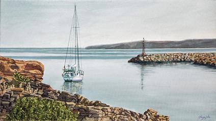 Sailboat on the  Aegean