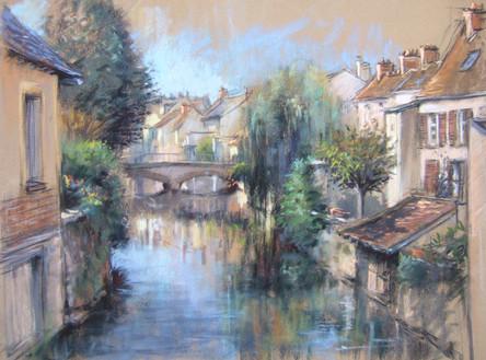 peintre dans la rue à