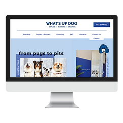 Whats Up Dog Homepage Mockup (Pet Market