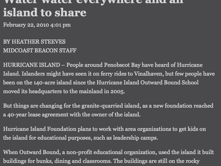 BDN Article on the Hurricane Island Foundation