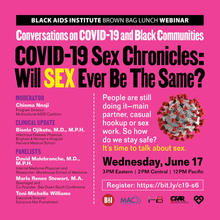 Conversations on COVID-19 Sex Chronicles