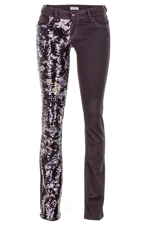 Mathmazeil  - Siyah Payet Garnili Pantolon