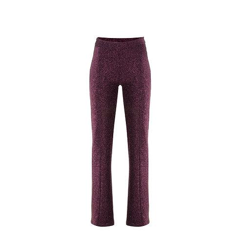 derya özalp elegant styling - Bordo Simli Pantolon