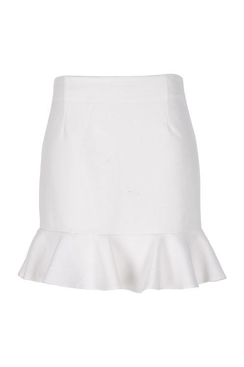 derya özalp elegant styling - Beyaz Volanlı Etek