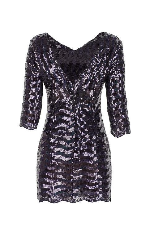 derya özalp elegant styling - Dalga Payet Elbise