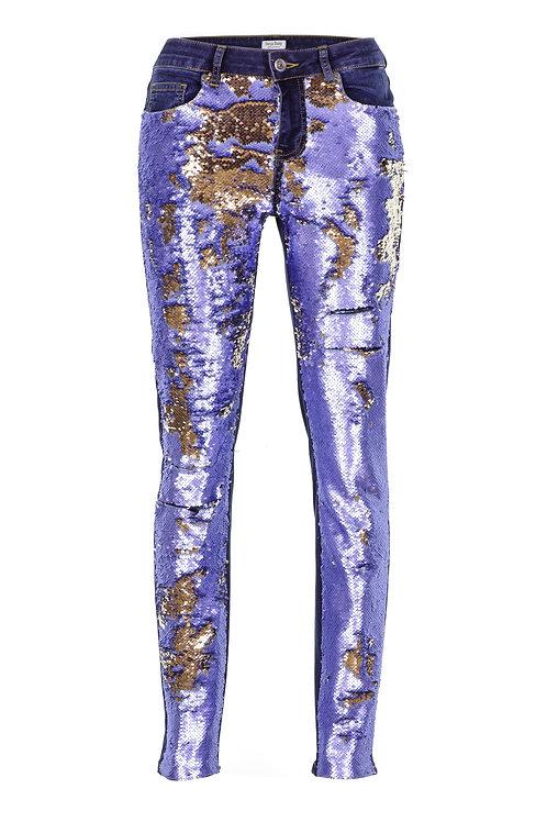Mathmazeil  - Mavi Payet Garnili Pantolon