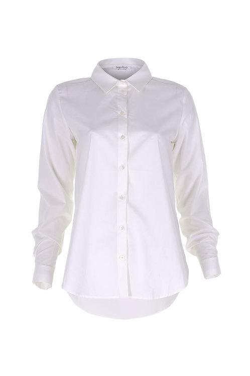 Yırtmaçlı Beyaz Gömlek