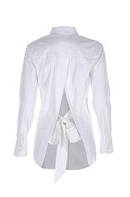 Beyaz Gömlek - Fiyonklu