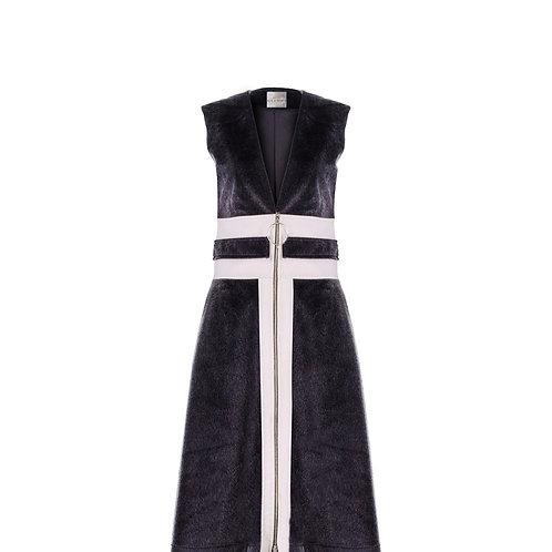 derya özalp elegant styling - Vegan Tay Tüyü Elbise