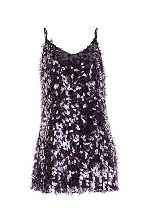derya özalp elegant styling - Askılı Payetli Elbise