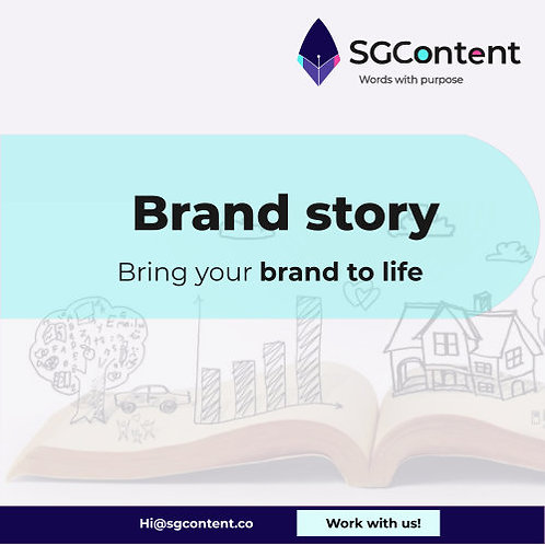 Brand story storytelling writing service