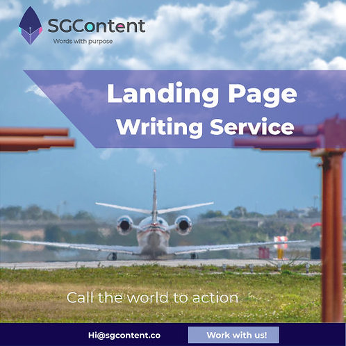 Landing page SEO content , with meta