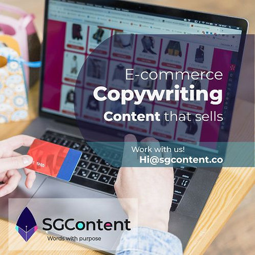 Ecommerce content writing service