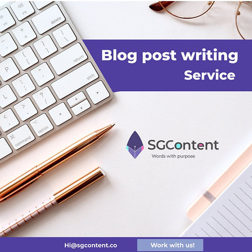 Blog post writing service, mid package