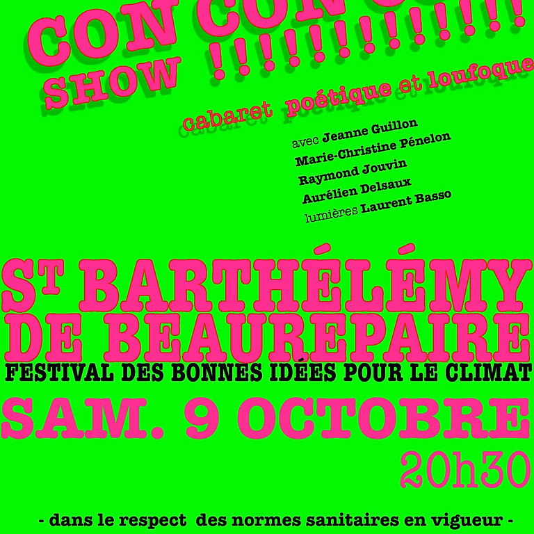 ze CONCONCON show - Cabaret poétique et loufoque