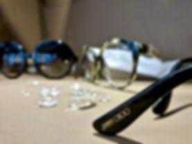 Jimmy Choo frames w/ Swarovski crystals